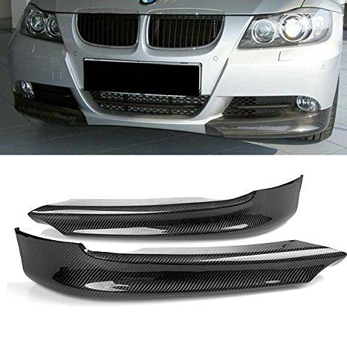 New For BMW E90 Sedan & E91 Wagon 320i 325i 2006-2008 Carbon Fiber Front Splitter Lip Spoiler Bumper Fender-Guard (E90 Carbon Fiber Splitters compare prices)