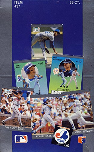 1991 Fleer Ultra Baseball WAX BOX 36 Packs INAUGURAL ULTRA ISSUE!