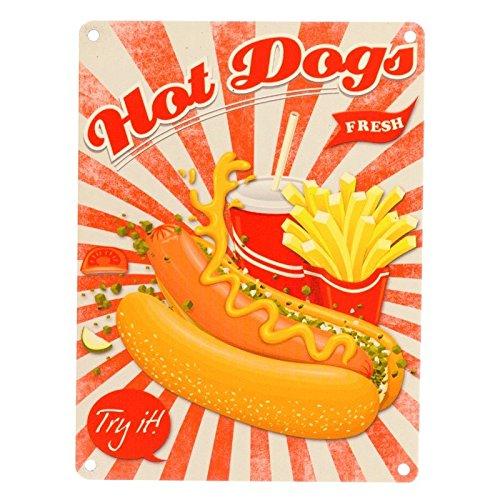 Fast Food Hot Dogs Cartel de chapa - Metal fewa Hot Dog ...