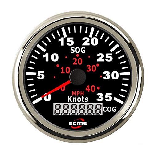 Waterproof Boat Yacht 85mm GPS Speedometer 0-35MPH 0-60KM/H with COG Universal Meter ()