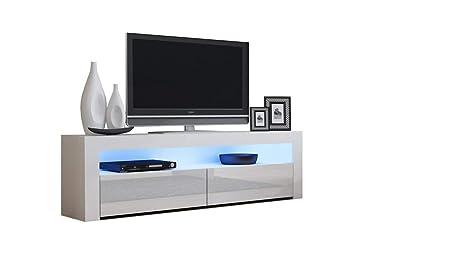 Amazon Com Tv Console Milano Classic White Up To 70 Inch Flat Tv