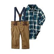 Carter's Baby Boys' 3 Piece Plaid Dress Me Up Set 3 Months