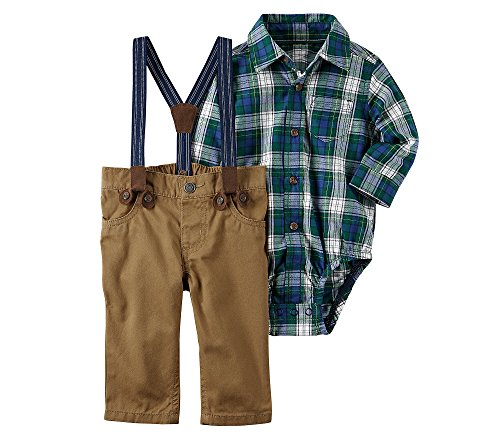 Carter's Baby Boys' 3 Piece Plaid Dress Me Up Set 24 Months Plaid Dress Set