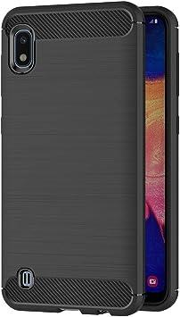 AICEK Funda Compatible Samsung Galaxy A10, Negro Silicona ...