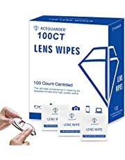 Lens Cleaning Wipes Eyeglass Cleaner 100ct Lens Wipes Pre-Moistened Individually Wrapped Lens Cleaner for Glass, Screen, Camera and other Optical Devices