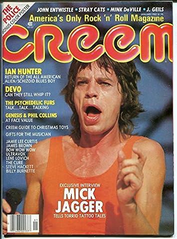 Creem 1/1982-Mick Jagger-J Geils Band-Genesis-Police poster-VG/Fn - Mick Jagger Band