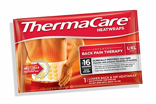 Thermacare Heat Wrap Pain Relief Lower Back & Hip L-xl