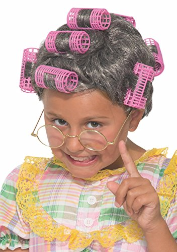 Old Lady Hair Costume (Forum Novelties Child's 78227 Aunt Gertie Wig)