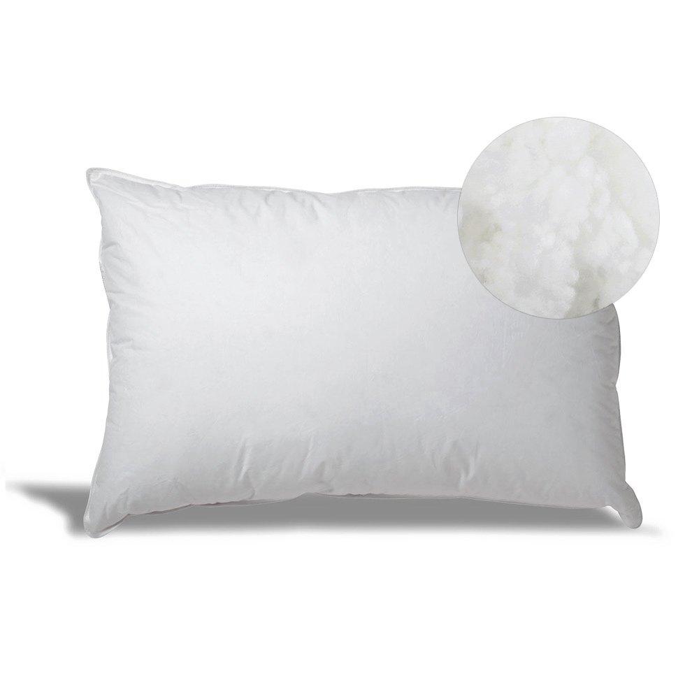 eLuxurySupply Overfilled Down Alternative Back/Side Sleeper Pillow - Hypoallergenic Fill - 100% Cotton Ticking - Set of 2, King