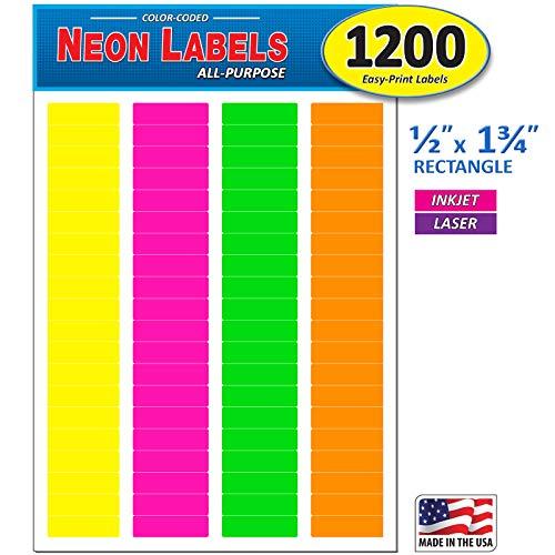 Colored File Folder Labels - 7