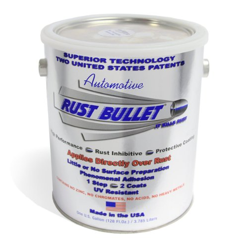 Rust Bullet RBA54 Automotive Rust Inhibitor Paint, 1 Gallon Metal Can, Metallic Gray by Rust Bullet