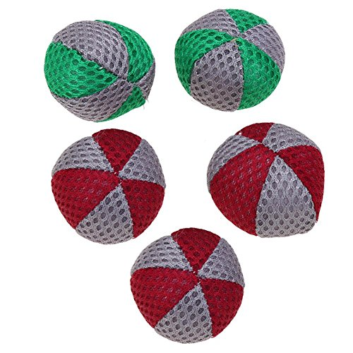 60%OFF WinnerEco 5pcs/Pack Pet Balls Cat Teething Bite Chew Chase Toy Mesh Cloth Balls