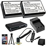Two LP-E10 Lithium Ion Replacement Batteries w/Charger + Memory Card Reader/Wallet + Deluxe Starter Kit for Canon EOS Rebel T3 Digital SLR Camera DavisMAX Bundle