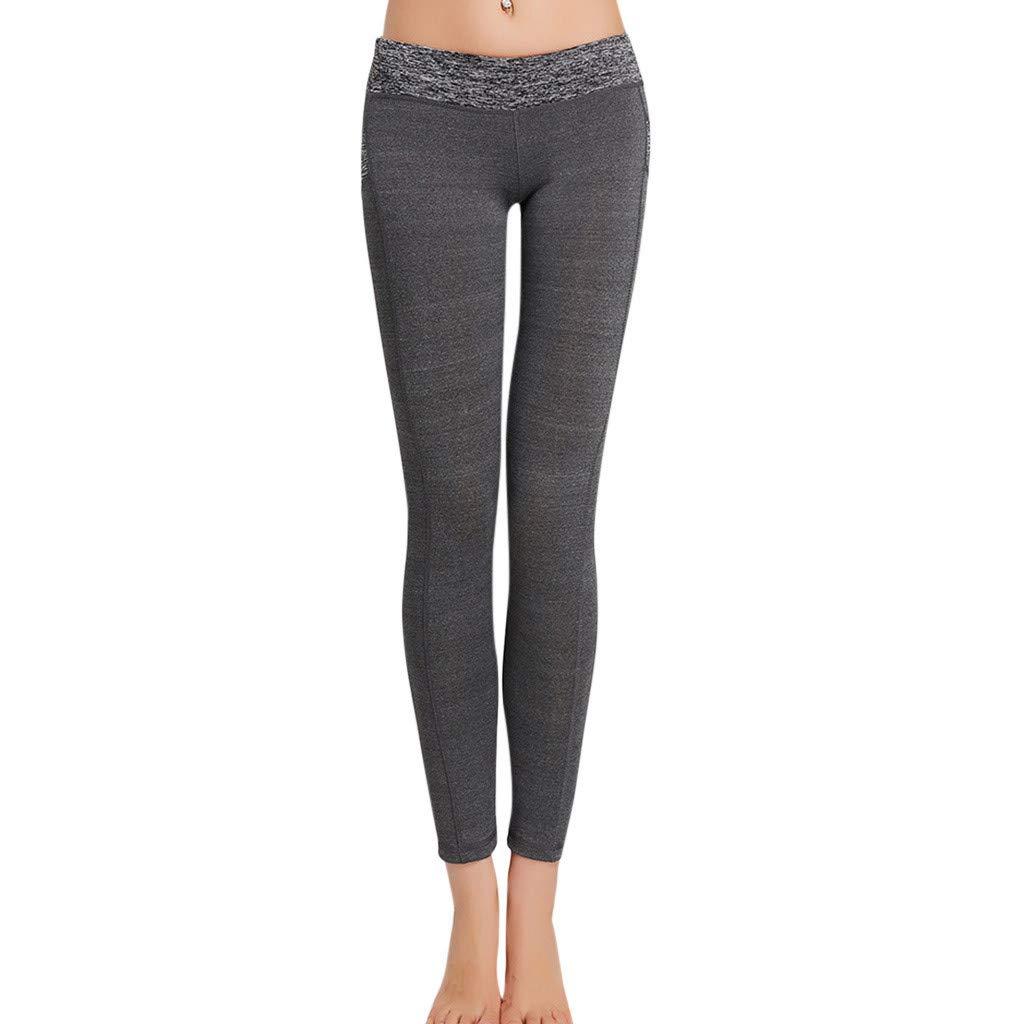 Kiminana Tight-Fitting Professional Sports Running Yoga Pants Unisex Gray