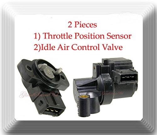 (2 Pieces) 35102-38610 / 35150-33001Throttle Position Sensor(TPS) & Idle Air Control Valve Fits: Hyundai Santa Fe (2001-2006) Hyundai Sonata (2002-2005) Kia Optima (2001-2006) ()
