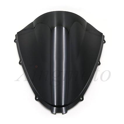 NBX- Parabrisas protector de parabrisas negro doble burbuja ...