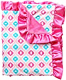 Caden Lane Ikat Collection Mod Ruffle Blanket, Pink (Discontinued by Manufacturer)