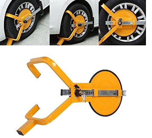 Abrazadera de bloqueo de rueda redonda para remolque de coche, furgoneta, caravana para ruedas de 33 cm y 38 cm: Amazon.es: Coche y moto