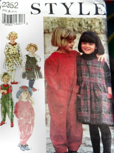 Style 2352 Paper Sewing Pattern Children