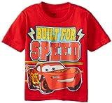Cars Little Boys' Toddler Built For Speed Toddler T-Shirt, Red, 3T