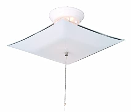 Design house 517805 2 light ceiling light with pull chain white