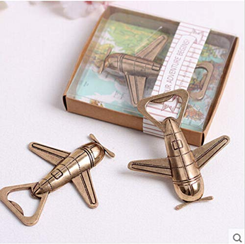 Gift Wedding Favor Gift Giveaways Quot Let The Adventure Begin Airplane Bottle Opener - Gripper Rubber Engraving Eagles Twist Iphone Cabinet Favors Keys Vintage Unicorn ()