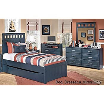 Amazon.com: Leo Twin Bedroom Set with Panel Bed Dresser and Mirror ...