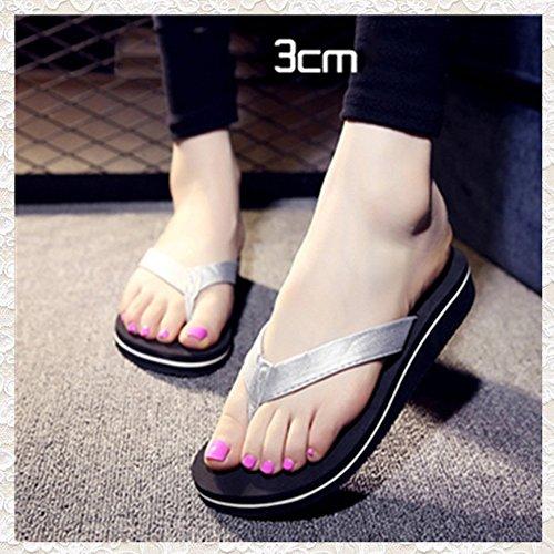 FEI Chanclas Sandalias antideslizantes antideslizantes con zapatillas de playa con 6 colores Antidérapant ( Color : 1003 , Tamaño : 35 ) 1004