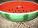 Large ceramic watermelon bowl