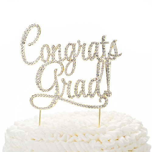 Ella Celebration Congrats Grad Graduation Cake Topper, New Graduate Party Supplies (New Years Congratulations)