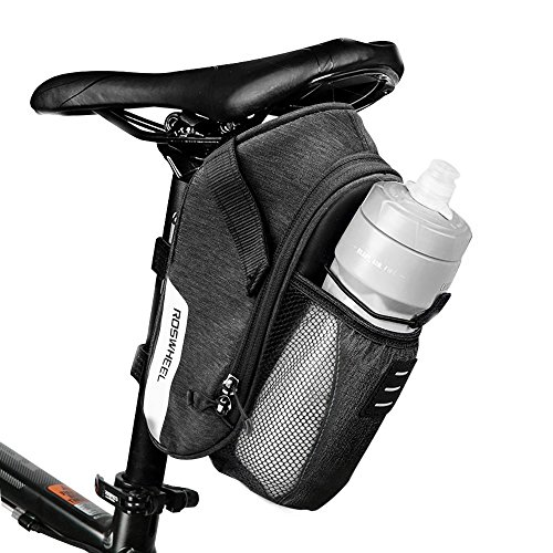 Cillbi Bike Bicycle Saddle Bag 1.8L Mountain Road MTB Bike Cycling Storage Pack Under Seat Packs Tail Pouch Compact Bike Back Seats Rear Bags Repair Tools Pocket Pack with Pocket for Water Bottle by Cillbi