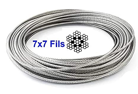 Cable de acero inoxidable 316 flexible de 5 mm x 7 mm de ...