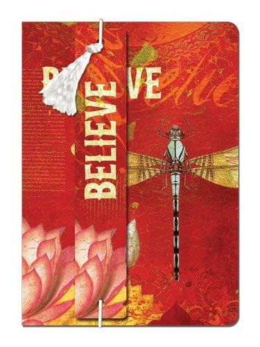 - Tree-Free Greetings Believe Journal with Bookmark, 160 Ruled Pages, Recycled, 5.5 x 7.5-Inches, Multi Color (72124)