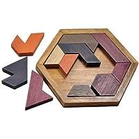 لعبة احجيات مع قاعدة سداسية لتطوير الذكاء وتعزيز القدرة على الابداع، لعبة هدية للاطفال والبالغين