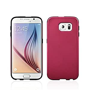 Samsung Galaxy S6 Sandwave Case GPEL [SOPHISTICATED ABSTRACT PATTERNS] Slim Dual Layer Premium Case. [Hot Pink]