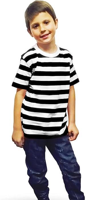 5be50c1cfda6 Vogueland Kids Children Striped T-Shirt Fancy Dress Summer ...