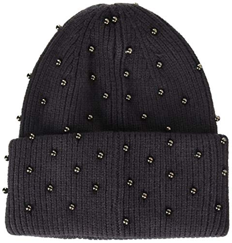Steve Madden Women's Metallic Pearls Hat, Charcoal, ONE Size ()