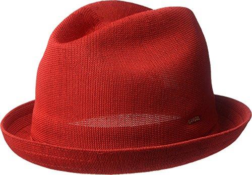 (Kangol Men's Tropic Player Fedora Trilby Hat, Scarlet, XL)