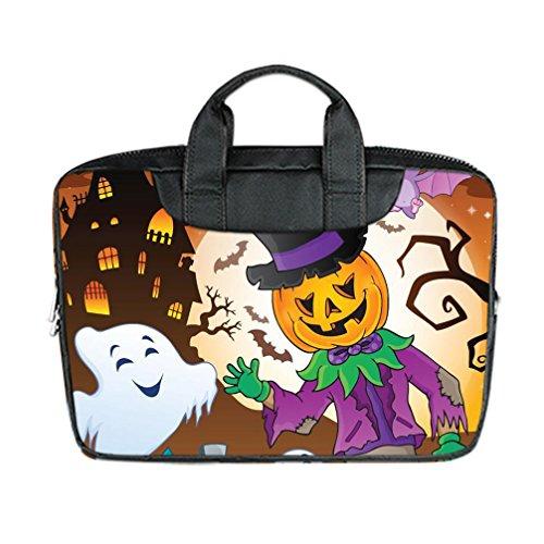 [JIUDUIDODO Custom Cool Halloween Evil Jack with Bat Nylon Waterproof Bag Computer Bag Handbag for Laptop 13