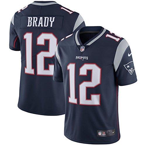 Nike Men's New England Patriots #12 Tom Brady Navy Vapor Untouchable Limited Jersey (Large)