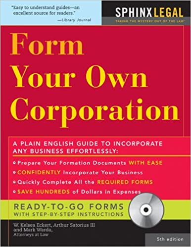 Form your own corporation fifth edition w eckert mark warda form your own corporation fifth edition w eckert mark warda arthur sartorius iii 0760789211294 amazon books fandeluxe Choice Image