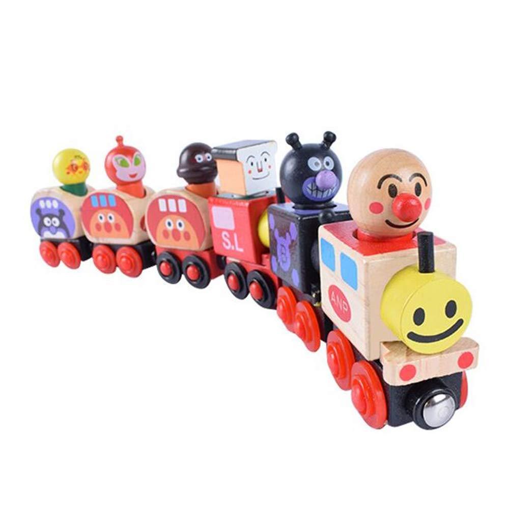 Zamango 木製列車セット DIY 磁気スタッキング トレイン 教育玩具 幼児 子供用   B07J43TZ6B
