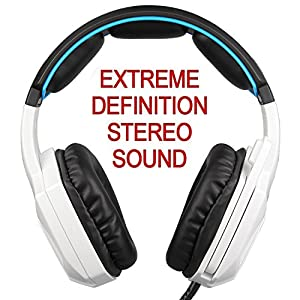 Stereo Gaming Headset PS4 Xbox One S, SADES SA930S Noise Cancelling Over Ear Headphones with Mic, Bass, Soft Memory Earmuffs for PC Laptop Mac Nintendo Switch Games Mobile