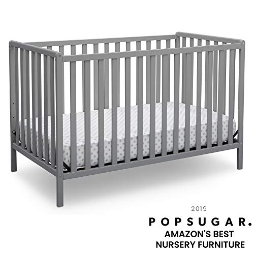 Delta Children Heartland 4-in-1 Convertible Crib, Grey ()