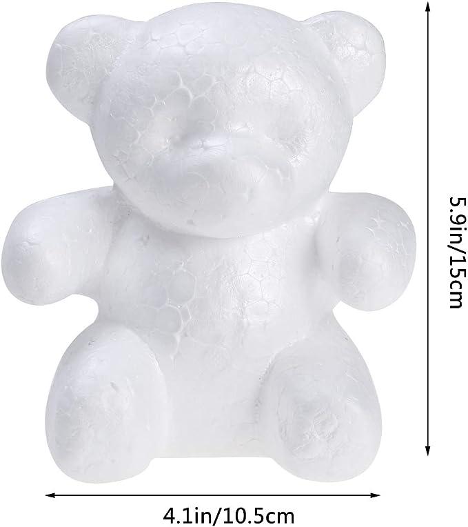 Zwei B/ären Amosfun Polystyrol B/är Schaum B/är Form f/ür Kinder DIY Handwerk 10 St/ück