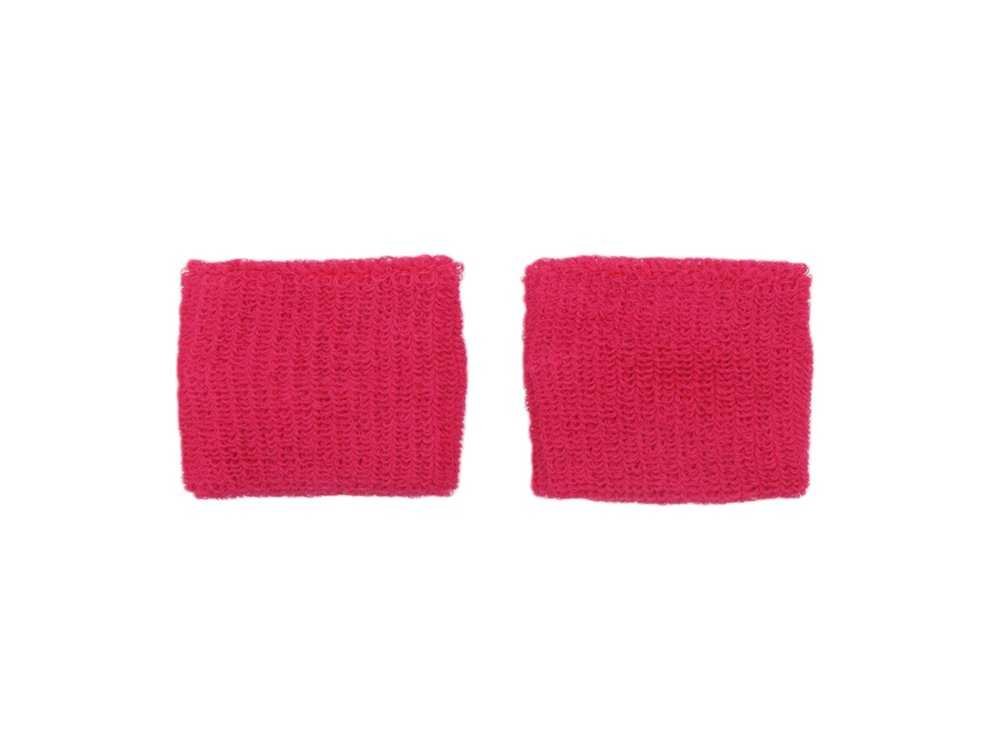 COUVER - Youth - Teenage - Pink Breast Cancer Awareness Sweat Affordable Wirstband - 2.7 inch x 2.3 inch - Hot Pink - 1 pair