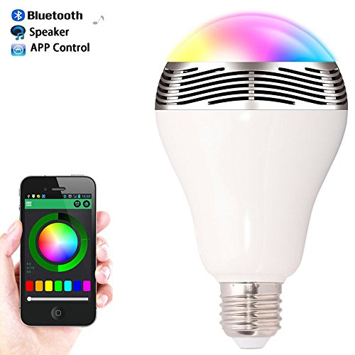 Speaker Bluetooth - Speaker Bluetooth E27 Led Rgb Light Music Bulb Lamp Color Changing Via Wifi App Control Mp3 Player - Portable Hdmi Up Xl Veho Dot Karaoke Nixon Jbl And