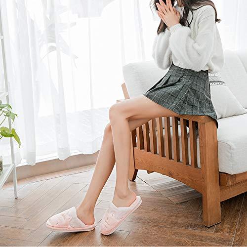 Animé 36 Green Td Maternité Intérieur Épais Taille Pink 35 Chaussures Version Coréenne Et couleur Chaud Femelle Automne Coton Dessin Belle D'hiver Garder Maison Antidérapante Pantoufles Fond 1wr1qOxaS