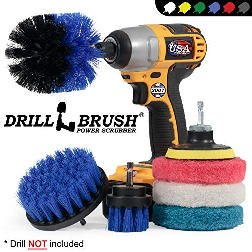 Cleaning Supplies – Drillbrush – Brush Drill Attachment Kit – Drill Brush Pads – Hot Tub Cleaner Brush – Pool Cleaner…