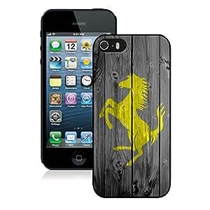 Unique Ferrari logo 7 Black Phone Case for iPhone 5 5s 5th Generation